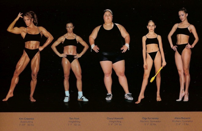 Howard Schatz & Beverly Ornstein's athlete body types series